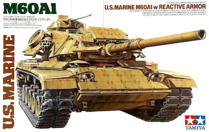โมเดลรถถังหลัก U.S.M60A1 S/Reactive Armor 1/35