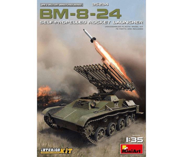 MI35234 BM-8-24 SELF-PROPELLED ROCKET LAUNCHER 1/35