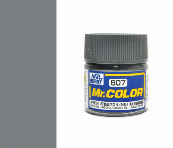 Mr.color C607 JMSDF 2704GRAY N5 (SEMI-GLOSS) 10ML