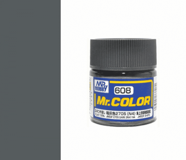 Mr.color C608 JMSDF 2705 DARK GRAY N4 (FLAT 75%) 10ML