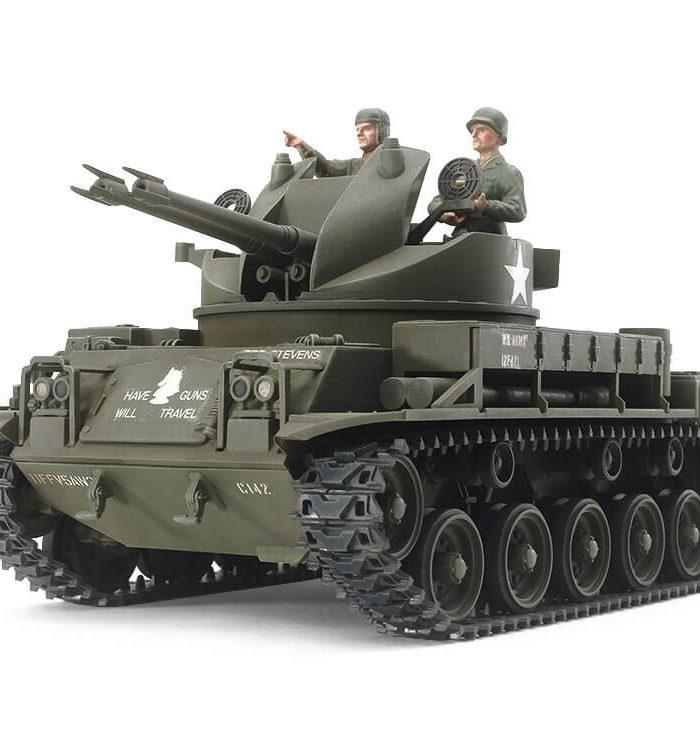 รถถังทามิย่า TAMIYA TA35161 M42 DUSTER (w/3 FIGURES) 1/35