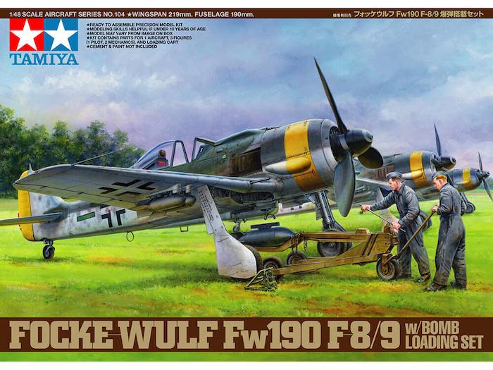 TA61104 FOCKE-WULF FW190 F-89 W/Bomb Loading Set 1/48