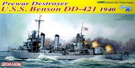 โมเดลเรือรบ Dragon DGM1034 USS Benson DD-421 1940 1/350