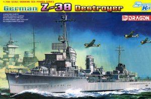 โมเดลเรือรบ Dragon DRA7134 German Z-38 Destroyer 1/700
