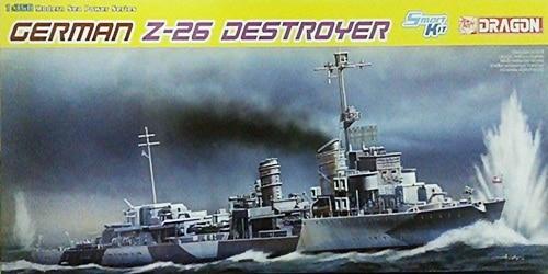 โมเดลเรือรบ Dragon DRA1064 GERMAN Z-26 DESTROYER 1/350