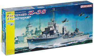 โมเดลเรือรบ Dragon DRA1049 GERMAN Z-38 DESTROYER 1/350