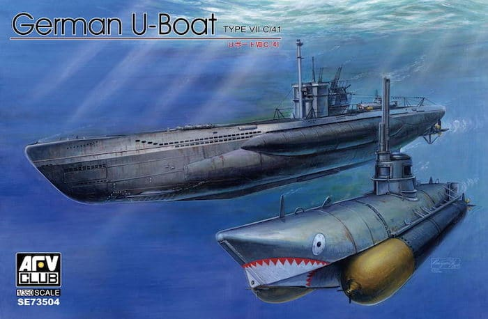 โมเดลเรืออู AFV 73504 GERMAN U-BOAT TYPE VII C41 1/350