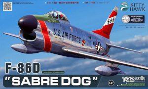 โมเดลเครื่องบิน Kitty Hawk KH32007 F-86D Sabre Dog 1/32