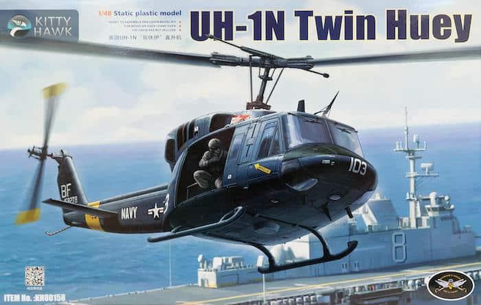 โมเดลเฮลิคอปเตอร์ Bell212 KH80158 UH-1N Twin Huey 1/48