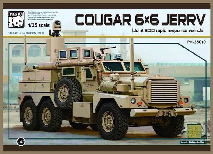 โมเดลรถหุ้มเกราะ Panda PH35010 Cougar 6x6 JERRV 1/35