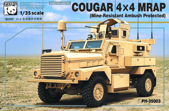 โมเดลรถหุ้มเกราะ Panda PH35003 Cougar 4x4 MRAP 1/35