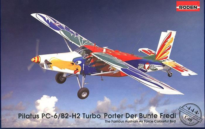 โมเดล Roden Pilatus PC6B2/H2 TURBO PORTER Austria Air Force 1/48