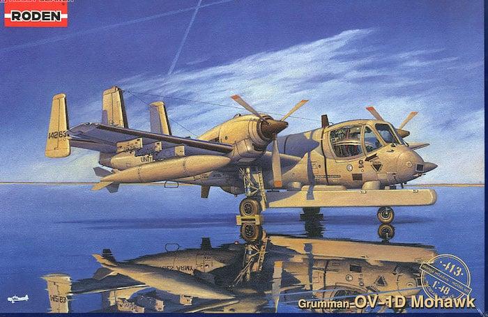 โมเดลเครื่องบิน Roden GRUMMAN OV-1D MOHAWK 1/48