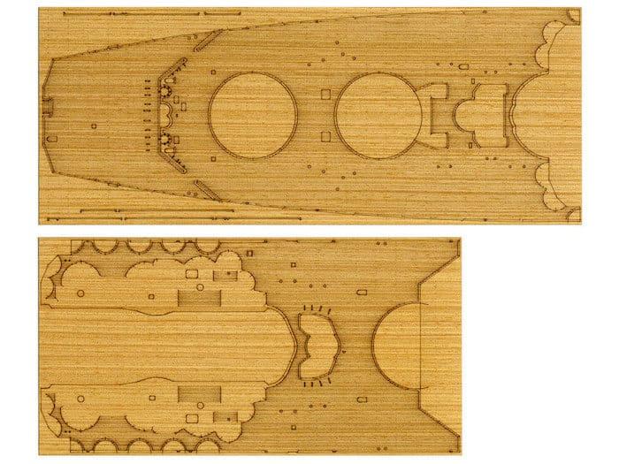 แผ่นลายไม้ดาดฟ้าเรือทามิย่า Yamato Deck Sheet 1/350 ( เฉพาะ 78025 )