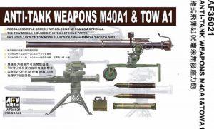 โมเดลปืนต่อสู้อาวุธ AFV AF35021 Anti-Tank Weapons M40A1 & Tow A1 1/35