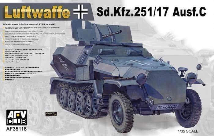 โมเดลรถถัง AFV AF35118 Luftwaffe Sd.Kfz.251/17 1/35
