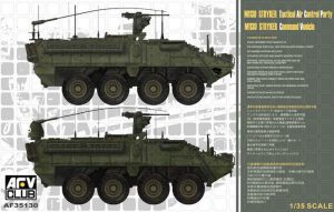 โมเดลรถถัง AFV AF35130 M1130 Stryker Commander's Vehicle 1/35