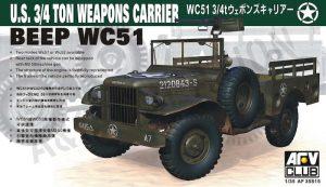 โมเดลรถขนอาวุธ AFV AF35S15 WC51 3/4T Weapons 1/35