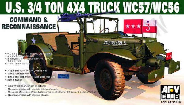 โมเดลรถทหาร AFV AF35S16 WC57 Command Car 1/35