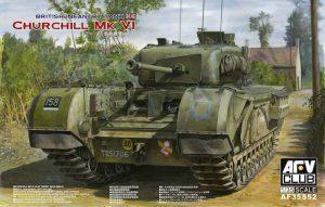 โมเดลรถถัง AFV AF35S52 Churchill MK.VI/75 mm.GUN 1/35