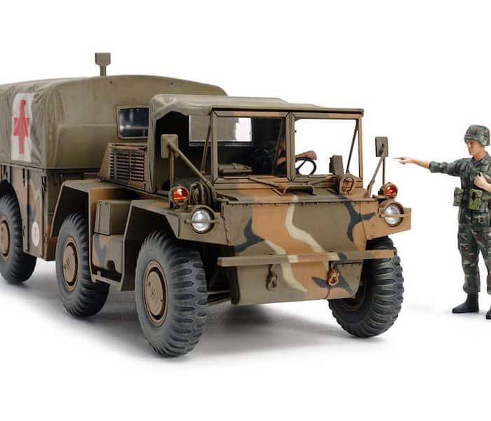 โมเดลรถบรรทุกทหาร M792 Gama Goat U.S. 6 x 6 Ambulance 1/35