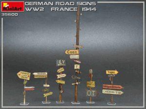 โมเดลป้ายถนนเยอรมัน MiniArt MI35600 German Road Signs WW2 (France 1944)