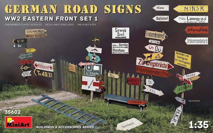 โมเดลป้ายบอกถนน MI35602 GERMAN ROAD SIGNS WW2 1/35