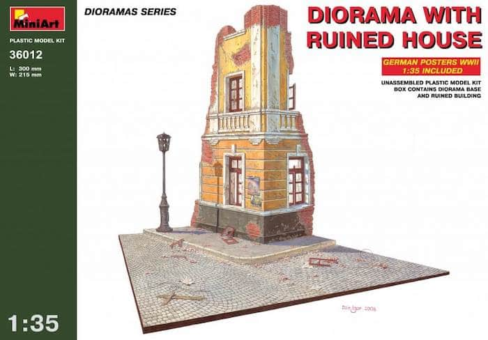 โมเดลฉากจำลอง MiniArt MI36012 Diorama w/Ruined House 1/35