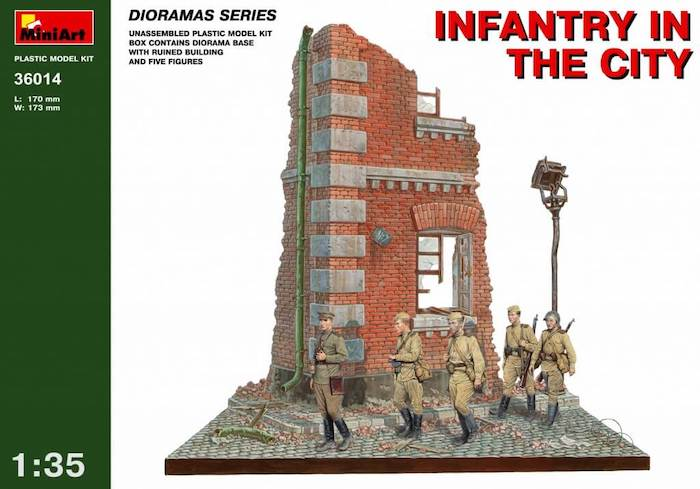 โมเดลฉากจำลอง MiniArt MI36014 Infantry In The City 1/35