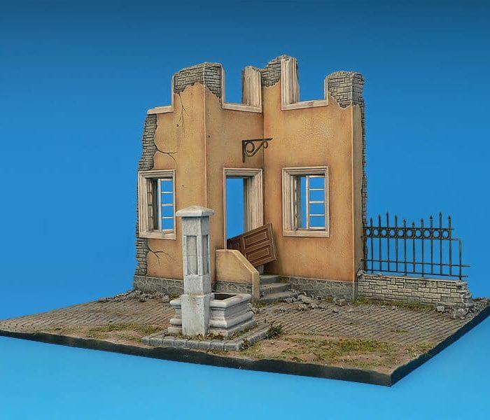 โมเดลฉากจำลอง MiniArt MI36028 Village Diorama w/Fountain 1/35