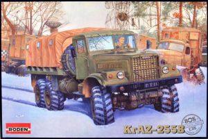 โมเดลรถบรรทุก Roden RO805 KrAZ-255B Soviet Military Truck 1/35