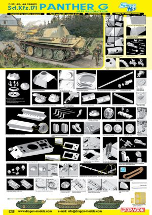 โมเดลรถถัง Dragon DR6268 PANTHER G LATE PRODUCTION 1/35