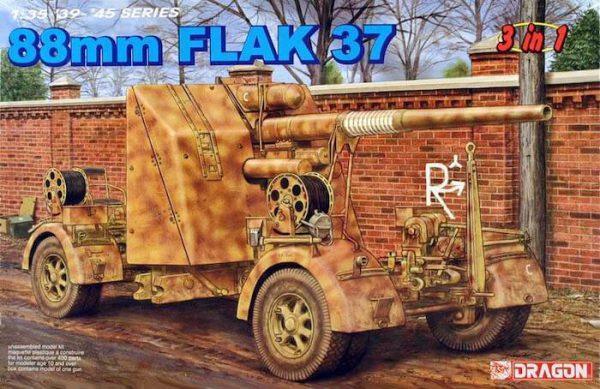 โมเดลรถถัง Dragon DRA6287 88mm. FLAK 37 1/35