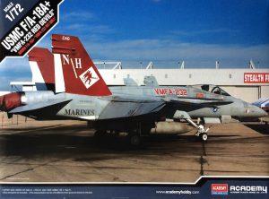 โมเดลเครื่องบิน Academy AC12107 USMC F/A-18+ VMFA-232 RED DEVILS 1/72