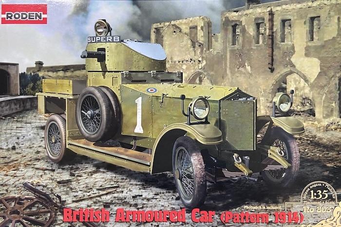 โมเดลรถบรรทุก Roden RO803 British Armoured Car (Pattern 1914) 1/35
