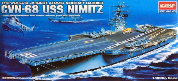 โมเดลเรือรบ Academy AC14213 U.S.S. NIMITZ 1/800