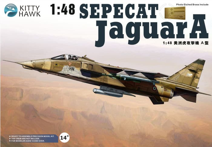 โมเดลเครื่องบิน Kitty Hawk KH80104 Sepecat Jaguar A 1/48