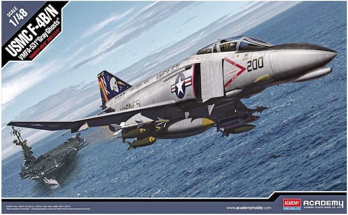 โมเดลเครื่องบิน AC12315 F-4BN Phantom II VMFA-531 Gray Ghosts 1/48
