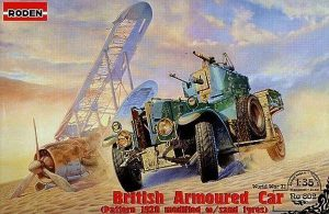 โมเดลรถบรรทุก Roden RO802 British RR Armoured Car 1920 Pattern MkI modified W/Sand