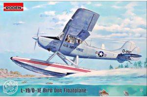 โมเดลเครื่องบิน Roden Cessna L-19/O-1 Bird Dog Floatplane 1/32
