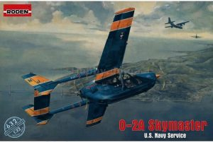 โมเดล Roden Cessna O-2A Skymaster US Navy Service 1/32