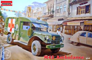 โมเดลรถบรรทุก Roden RO811 M43 3/4 Ton 4x4 Ambulance Truck 1/35