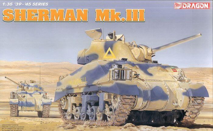 โมเดลรถถัง Dragon DR6313 Sherman Mk.III 1/35