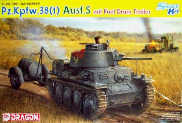 โมเดลรถถัง Dragon DR6435 PZ.38(t) AUSF.S w/Durm Trailer 1/35