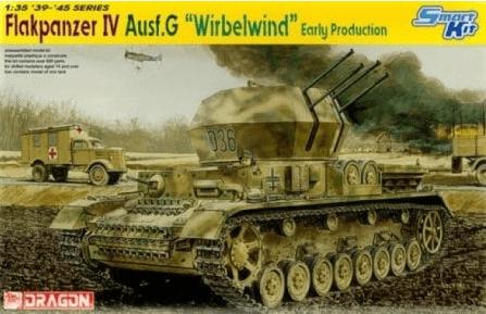 โมเดลรถถัง Dragon DR6342 Flakpanzer IV AUSF.G Wirbelwind 1/35