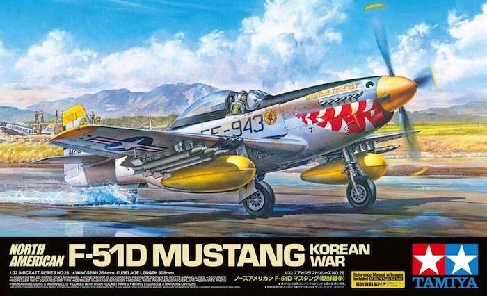โมเดลเครื่องบิน TAMIYA 60328 NORTH AMERICAN F-51D MUSTANG 1/32