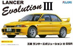 โมเดลรถ Fujimi Mitsubishi Lancer Evolution III GSR 1/24