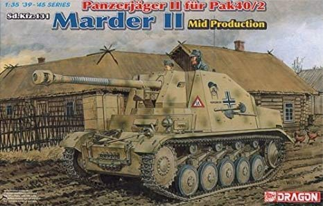 โมเดลรถถัง Dragon DR6423 Marder II Mid Production 1/35