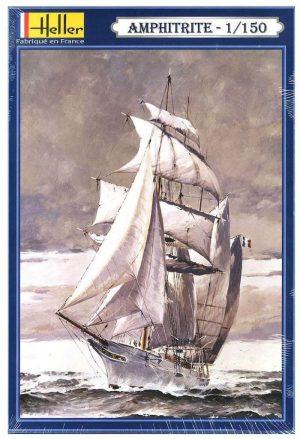 โมเดลเรือเดินสมุทร Heller HL80610 1887 Sailboat Yacht Amphitrite 1/150