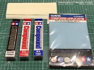 ผ้าสำหรับขัด compound Tamiya TA870901 ชุด 3 สี 26x19 ซม.
